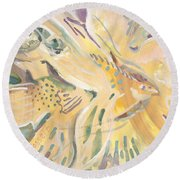 Harmony On Earth Round Beach Towel