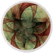 Round Beach Towel featuring the digital art Harmony Remains by Jeff Iverson