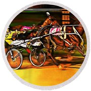 Harness Race #2 Round Beach Towel