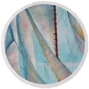 Harnessed Breeze Round Beach Towel