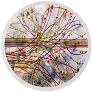 Round Beach Towel featuring the digital art Harnessing Energy 1 by Angelina Vick