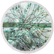 Round Beach Towel featuring the digital art Harnessing Energy 3 by Angelina Vick