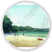 Harrington Beach, Wisconsin Round Beach Towel