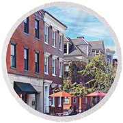 Harrisburg Pa - Coffee Shop Round Beach Towel