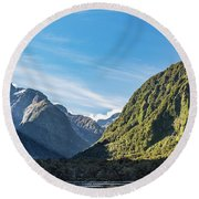 Round Beach Towel featuring the photograph Harrison Cove Sunlight by Gary Eason