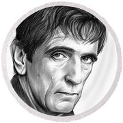 Harry Dean Stanton Round Beach Towel