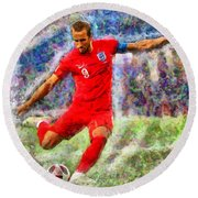 Harry Kane Round Beach Towel