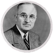 Harry Truman - 33rd President Of The United States Round Beach Towel