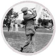 Harry Vardon - Golfer Round Beach Towel by International  Images