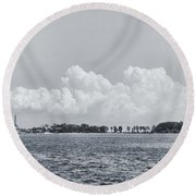 Hart Island, Nyc  Round Beach Towel by Sandy Taylor