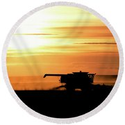 Harvest Burn Round Beach Towel