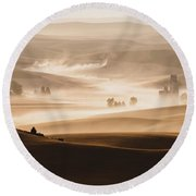 Harvest Dust Round Beach Towel