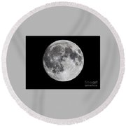 Round Beach Towel featuring the photograph Harvest Moon At 99 Pct. Waxing Gibbous by Ricky L Jones