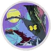 Harvest Moon Flight Round Beach Towel
