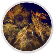 Harvest Of Hope Round Beach Towel