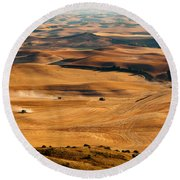 Harvest Overview Round Beach Towel