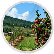 Harvest Time In The Catoctin Mountains Round Beach Towel
