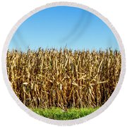 Round Beach Towel featuring the photograph Harvest Time by Ricky L Jones