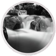 Harz Mountain Stream Round Beach Towel
