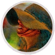 Hat And Ashley Bourne  Round Beach Towel