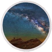 Hat Rock Milky Way Round Beach Towel