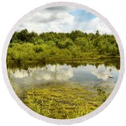 Hatfield Moors Round Beach Towel