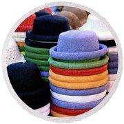 Hats, Aix En Provence Round Beach Towel