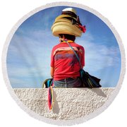 Hats Round Beach Towel