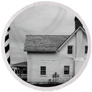 Hatteras Light Keepers Quarters Round Beach Towel