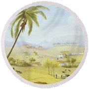 Haughton Court - Hanover Jamaica Round Beach Towel