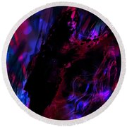 Round Beach Towel featuring the digital art Haunted by Jason Hanson