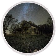 Round Beach Towel featuring the photograph Haunted Memories by Aaron J Groen