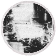 Round Beach Towel featuring the photograph Haunted Room I by Mimulux patricia no No