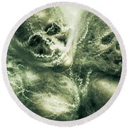 Haunted Undead Skeleton Heads Round Beach Towel
