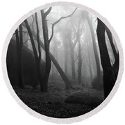 Round Beach Towel featuring the photograph Haunted Woods by Jorge Maia