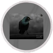 Haunting Round Beach Towel by Barbara S Nickerson