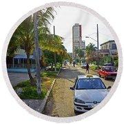 Havana-22 Round Beach Towel