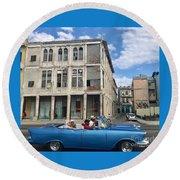 Havana Cruisin Round Beach Towel