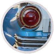 Round Beach Towel featuring the photograph Havana Cuba Vintage Car Tail Light by Joan Carroll