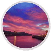 Havana Dawn Painterly Round Beach Towel