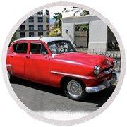 Havana Vintage 1 Round Beach Towel
