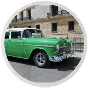 Havana Vintage 6 Round Beach Towel
