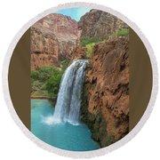 Havasu Falls Grand Canyon Round Beach Towel
