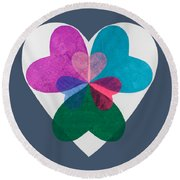 Have A Heart Round Beach Towel