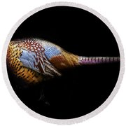 Have A Pheasant Day.. Round Beach Towel by Martin Newman
