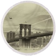 Have I Got A Bridge For You Round Beach Towel
