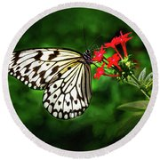 Haven't You Noticed The Butterflies? Round Beach Towel