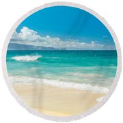 Round Beach Towel featuring the photograph Hawaii Beach Treasures by Sharon Mau