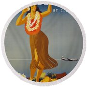 Hawaii By Clipper Round Beach Towel