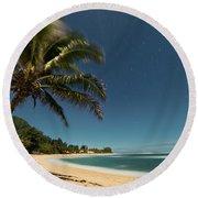 Hawaii Moonlit Beach Wainiha Kauai Hawaii Round Beach Towel